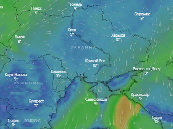 Прогноз погоды на месяц для города Кропивницкий